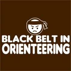 black belt in orienteering