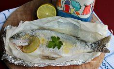 Come preparare il pesce al sale per ottenere una cottura perfetta che lo rende morbido e gustoso? E' facilissimo! Con il cartoccio rimane morbido e succoso Fresh Rolls, Nutella, Ethnic Recipes, Food, Calamari, Diet, Canning, Essen, Meals