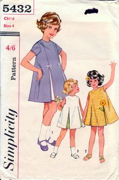 Items similar to Size 2 Breast 21 Girls Applique Flared Dress Transfer Simplicity 5432 Vintage Sewing Pattern Summer Pleated on Etsy Childrens Sewing Patterns, Simplicity Sewing Patterns, Doll Clothes Patterns, Vintage Sewing Patterns, Clothing Patterns, Dress Patterns, Vintage Outfits, Vintage Fashion, Vintage Girls Dresses