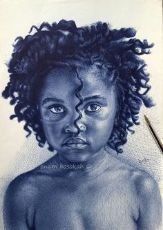 Realistic Portrait Drawing portrait drawing in ink (ballpoint pen) - Pencil Portrait Drawing, Portrait Art, Portraits, Ink Drawings, Realistic Drawings, Black Pen Sketches, Harlem Renaissance Artists, Ballpoint Pen Art, African Paintings