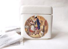 Tea Bag Storage Tea Caddy, Vintage Twinnings Ceramic Loose Tea Jar, Tea Cannister, Kitchen Storage, Cries of London by CuriosAnCollectibles on Etsy