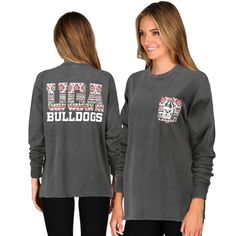 Georgia Bulldogs Women's Coastal Aztec Long Sleeve T-Shirt - Black