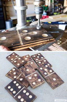 How to make DIY giant yard dominoes