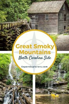 North Carolina Hiking, Living In North Carolina, North Carolina Mountains, Cherokee Nc, National Parks Map, Mountain Vacations, Smoky Mountain National Park, Roadside Attractions, Get Outdoors