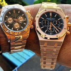 "Everose Rolex #Daytona or AP Royal Oak Chrono in rose gold? Men's Watch """