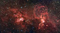 New Image from the European Southern Observ. shows two dramatic star formation regions (NGC 3603/ NGC 3576) in the southern Milky Way