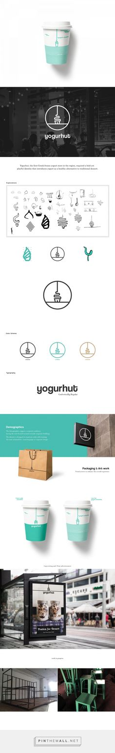 Yogurhut (Student Project) - Packaging of the World - Creative Package Design Gallery - http://www.packagingoftheworld.com/2017/03/yogurhut-student-project.html