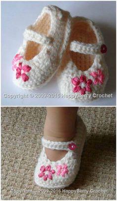 Crochet Baby Girl Crochet Baby Booties - 55 Free Crochet Patterns for Babies - DIY Baby Girl Crochet, Crochet Baby Clothes, Crochet Baby Shoes, Cute Crochet, Crochet For Kids, Baby Booties Free Pattern, Baby Shoes Pattern, Baby Patterns, Crochet Patterns
