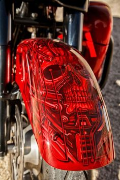techbike6 Cycle Painting, Air Brush Painting, Custom Motorcycle Paint Jobs, Custom Paint Jobs, Chopper Motorcycle, Bobber Chopper, Honda Bobber, Custom Helmets, Paint Photography