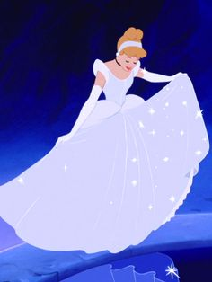 Okay, here's what I don't understand: look at this dress. What color is it? White to ice-blue right? And it's basically all the same color. Sure, there are some sparkles here and there on the skirt that aren't on the sleeves, but come on people! Whose idea was it to make every single replica of this classy ensemble into that sky-blue and white nightmare that all the Cinderellas are wearing these days? Plus, her hair is strawberry blonde, not sunshine yellow. Not cool, Disney. Not cool.