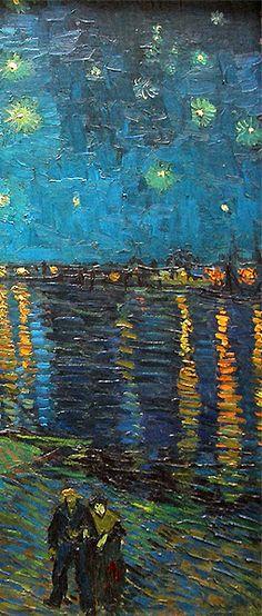 "varuud: "" "" Starry Night Over the Rhone, Vincent van Gogh. "" """