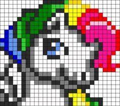 Resultado de imagem para perler beads unicorn patterns