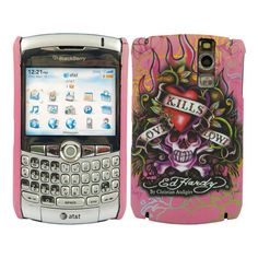Ed Hardy BlackBerry Curve Snap-On Case - Pink Love Kills Slowly ❤ liked on Polyvore featuring accessories, tech accessories, phones, celulares, ed hardy and cell phone cases