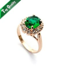 Cheap jewelry tower, Buy Quality jewelry box birthday cake directly from China jewelry bell Suppliers: ZHOUYANG Top Quality Rose Gold Color Created Green Crystal Finger Rings Elegant Brand Jewelry CZ Austrian Crystal For Women Kate Middleton Engagement Ring, Style Rose, Fashion Rings, Fashion Jewelry, Fashion Fashion, Green Emerald Ring, Emerald Color, Emerald Rings, Gold Colour