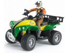 The Quad Bike with Driver from the Bruder Toys collection.  One of our favourite models in the Bruder Vehicles range is the Bruder Quad Bike with Driver.