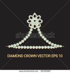 Beautiful and unique little tiara made with rhinestones or diamonds. Vector illustration for your graphic design.