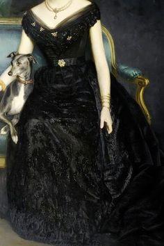 Marie Gräfin zu Münster by Harry von Hente, 1890 (detail) Old Dresses, Pretty Dresses, Beautiful Dresses, Renaissance Paintings, Renaissance Art, Robes Vintage, Vintage Dresses, Victorian Fashion, Vintage Fashion