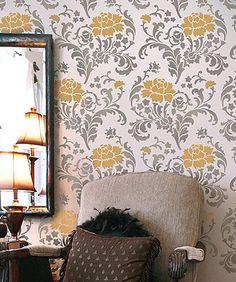 flower stencil https://www.cuttingedgestencils.com/julia-wall-stencil.html?category_id=1017