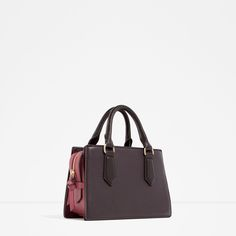 CONTRAST MINI CITY BAG-Hand bags-BAGS-WOMAN | ZARA United States