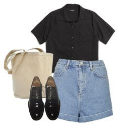 """""""so i walked her home and had dinner with her family"""" by communist ❤ liked on Polyvore featuring Madewell, Topshop and Givenchy"""