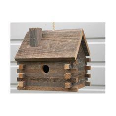 Log Cabin 10 in x 10 in x 8 in Birdhouse Cedarnest Log Cabin Hanging Birdhouse & Bewertungen Homemade Bird Houses, Bird Houses Diy, Barn Houses, Bird House Feeder, Diy Bird Feeder, Bird House Plans, Bird House Kits, Birdhouse Designs, Unique Birdhouses