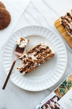"""Cookies & Cream Icebox Cake from """"Chickpea Flour Does It All"""" // by Faring Well #vegan #recipe"""