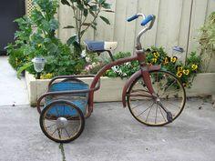 Cute vintage tricycle...