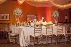 A elegant and warm fall wedding reception. #PGAweddings