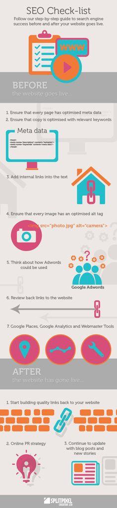 SEO checklist - a pretty infographic