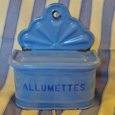 French Antique Match Box, Enamelware. $64.99, via Etsy.