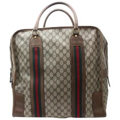 a76064ce1c026f Gucci Boston Supreme Sherry Monogram Web Large Duffle 869636 Weekend/Travel  Bag