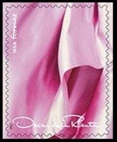 Stamp: Oscar de la Renta - pink coth design (United States of America) (Oscar de la Renta) Sn:US 5173k