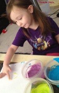 homemade edible finger paints