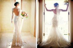 [The one on the left looks like she's sprouted a tail.  We must avoid that!]  Poses para la novia en las fotos de la boda #bodas #ElBlogdeMaríaJosé #Fotosboda #Posesparafotos