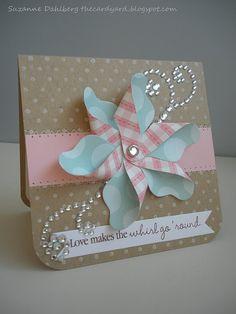 pinwheel card Cricut Cards, Stampin Up Cards, Pretty Cards, Love Cards, Karten Diy, Card Tags, Creative Cards, Anniversary Cards, Scrapbook Cards
