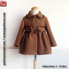 Para las amantes de la costura, aquí tenéis un fantástico reto: un abrigo para niña que podéis elaborar a partir del patrón y el tutorial que encontraréis en este post.