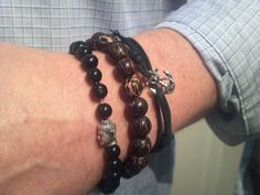 Made these men's bracelets myself!