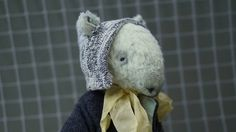 Teddy Bear style Artist viscose vintage OOAK  handmade collectible Tapir toy by IntDolls on Etsy