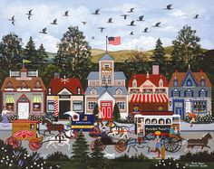 Artist Jane Wooster Scott | Rush Hour Painting
