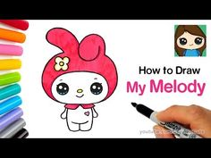 Draw So Cute - YouTube Kawaii Drawings, Cute Drawings, Draw So Cute People, Ramadan Crafts, Text Animation, Diy Birthday, Birthday Gifts, Sanrio Characters, Chica Anime Manga