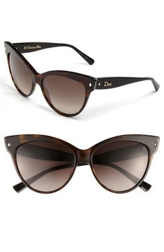 Dior Cat's Eye Sunglasses: Retro glamour infuses Italian-crafted sunglasses cut with a sultry cat's eye silhouette, available at #Nordstrom