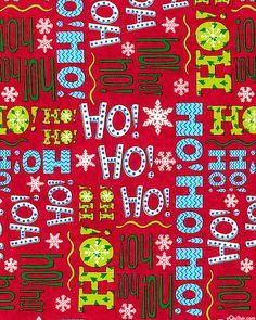Ho! Ho! Ho! - Santa's Laughter - Scarlet Red