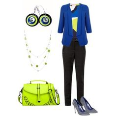 Cobalt Blue and Lime