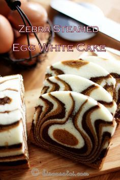 Zebra Steamed Egg White Cake
