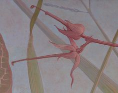 """Painted Ceiling - """"Leaves of Grass"""" ( detail with Herb Robert ) - Peter Korver 