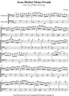 Bach - Jesu Joy of Man's Desiring sheet music for Cello Duet Country Music Playlist, Cello Sheet Music, Music Tabs, Me Me Me Song, Music Stuff, Scores, Violin, Teaching, Heart