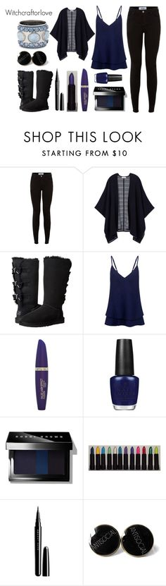 """WitchcraftOrLove"" by meliiissav ❤ liked on Polyvore featuring beauty, New Look, Tory Burch, UGG Australia, Markus Lupfer, Max Factor, OPI, Bobbi Brown Cosmetics, Marc Jacobs and Chico's"