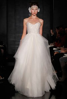 "Reem Acra ""Eternity"" Wedding Dress on OnceWed.com | PAID: $3800 ASKING: $2500 save 34% | http://www.oncewed.com/used-wedding-dresses/eternity-7/"