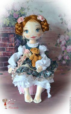 Купить Жюли. Текстильная куколка. - кукла, текстильные игрушки, кукла из ткани, грунтованный текстиль, интерьер