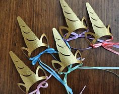 Unicorn Headband. Unicorn Crown Horn. Handcrafted in 3-5 Business Days. Unicorn Party Favors for Rainbow Party. Set of 5 or More.